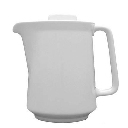 Кавник фарфор білий Lubiana Kaszub/Hel 1л чайник для кави в кафе бар ресторан, фото 2