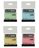 #$Блок бумаги для записей с клейким слоем JOBMAX 76х76 мм 80 л  2 цвассорти