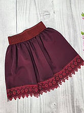 Школьная юбка для девочки р. 128-146 бордо