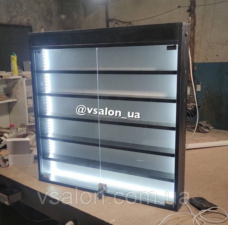Полка витрина подвесная с подсветкой V605