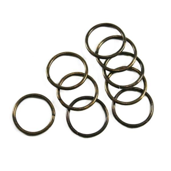 Кільце з дроту антик, 25 мм