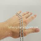 Срібний ланцюжок чоловічий якірного плетіння. Цепочка срібло 925. Якір, довжина 60 см, вага 26 гр, фото 3