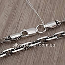Срібний ланцюжок чоловічий якірного плетіння. Цепочка срібло 925. Якір, довжина 60 см, вага 26 гр, фото 9