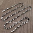 Срібний ланцюжок чоловічий якірного плетіння. Цепочка срібло 925. Якір, довжина 60 см, вага 26 гр, фото 6