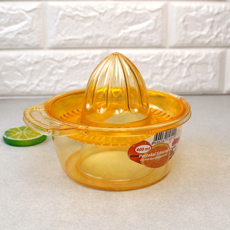Соковыжималка для цитрусовых ручная 400 мл из прозрачного пластика
