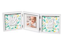 Набір для створення відбитка ручки і ніжки малюка My Baby Style 2P Mr & Mrs Clynk Потрійна рамка Біла