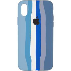 Чохол для iPhone X силіконовий з мікрофіброю всередині, Aquamarine