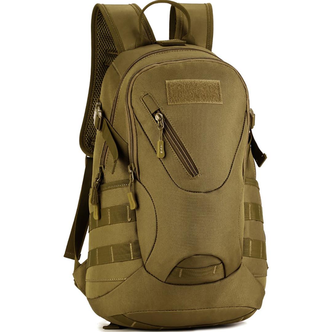 Рюкзак тактический Eagle M08G (штурмовой, военный) мужская сумка Оливковый 15 л. - фото 3