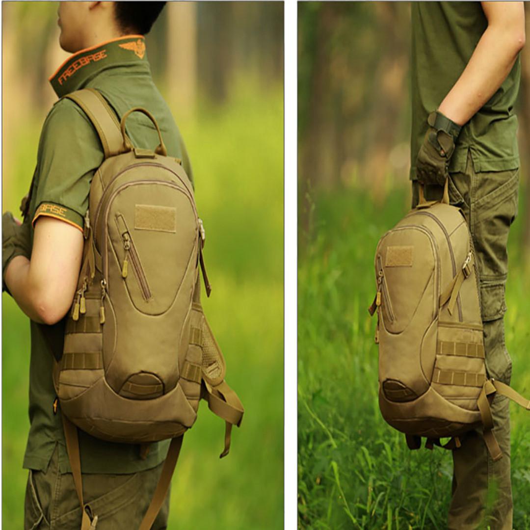 Рюкзак тактический Eagle M08G (штурмовой, военный) мужская сумка Оливковый 15 л. - фото 9
