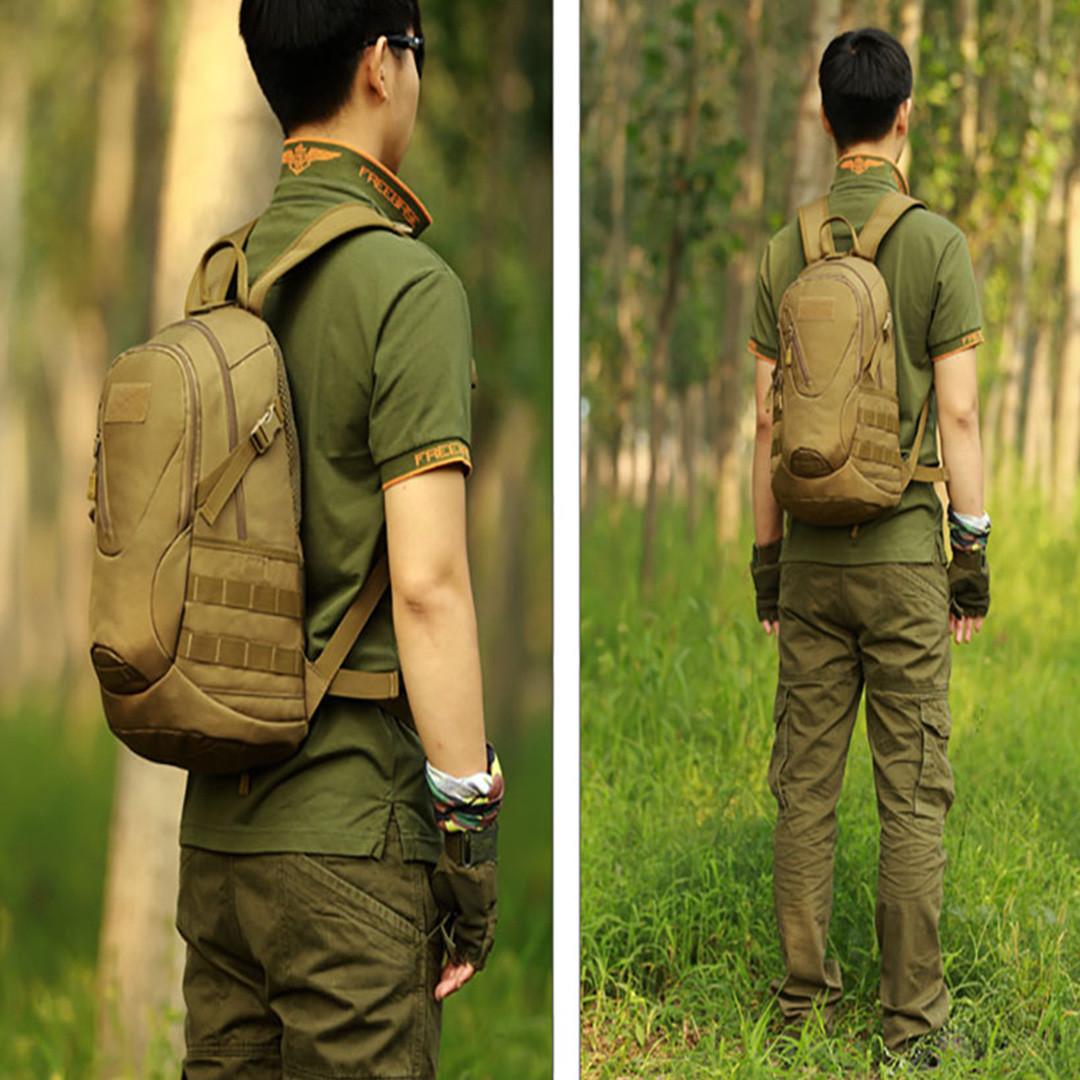 Рюкзак тактический Eagle M08G (штурмовой, военный) мужская сумка Оливковый 15 л. - фото 7