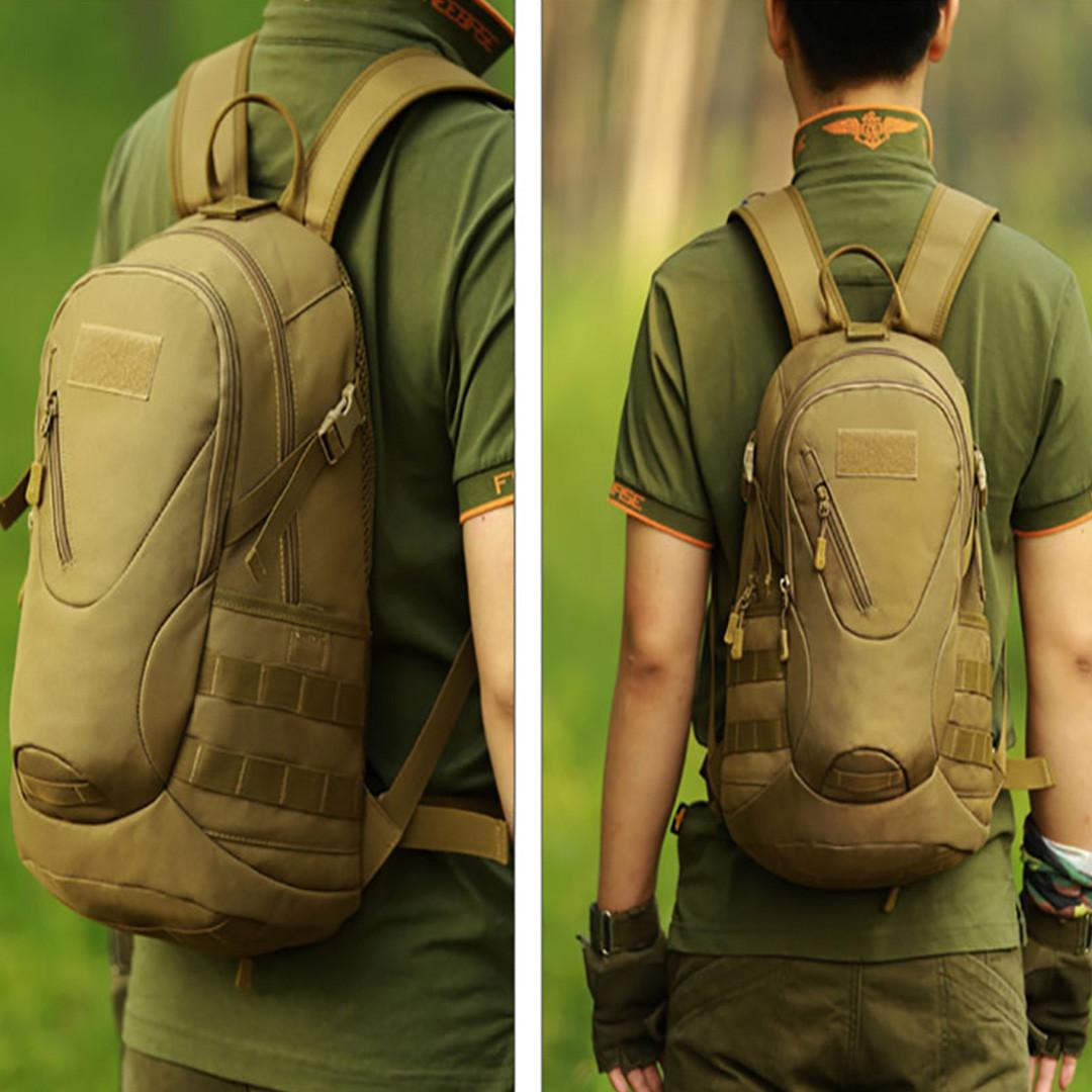 Рюкзак тактический Eagle M08G (штурмовой, военный) мужская сумка Оливковый 15 л. - фото 8