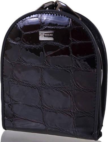 Компактный оригинальный кожаный кошелек WANLIMA (ВАНЛИМА) W500436341-red-black