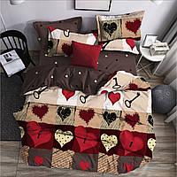 Недорогие постельные комплекты. Комплект постельного белья 1 5 полуторный, евро, семейный, двуспальный Сердца