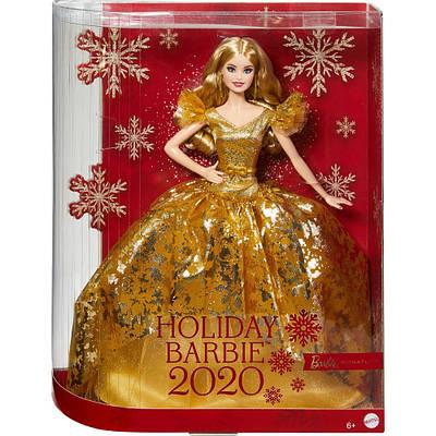 Кукла барби коллекционная barbie signature holiday 2020 doll