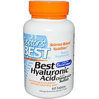 Гиалуроновая кислота с сульфатом хондроитина, 60 таблеток, Doctor's Best, Hyaluronic Acid