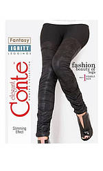 Conte Fantasy Igritt Трикотажные легинсы черные размер рост 170-90