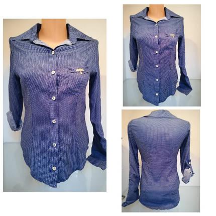 Оригінальна блуза-сорочка з довгим рукавом застібається на гудзики рукавчик підвертається, фото 2