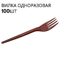 Одноразовые вилки красные, Юнита, 100 шт\пач
