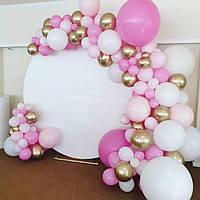 Арка гирлянда из воздушных шаров РОЗА