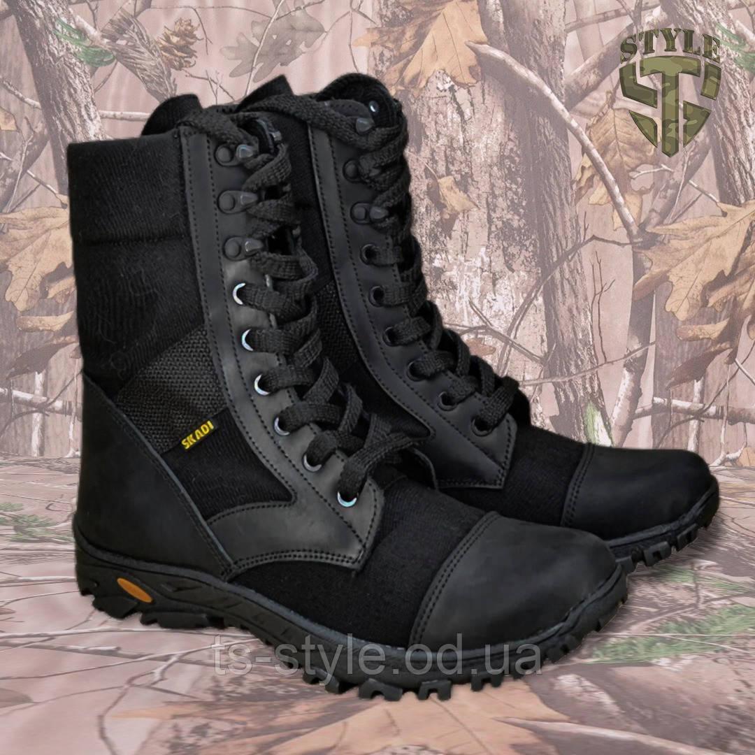 Берці демісезонні B2 військові чорного кольору демі/зима