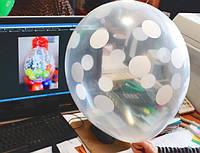 """Воздушные шарики прозрачные кристалл для подарков 18"""" (45 см). Шар упаковщик"""
