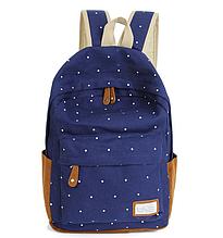 Рюкзак в горошек (синий)