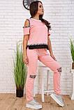 Спортивний костюм для жінок колір рожевий розмір S SKL87-297555, фото 2