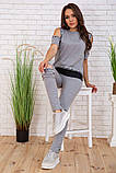 Спортивний костюм для жінок колір сірий розмір S SKL87-297557, фото 3
