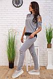 Спортивний костюм для жінок колір сірий розмір S SKL87-297557, фото 2