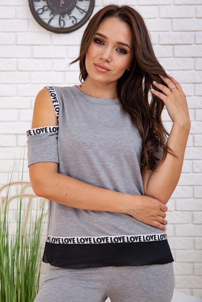 Спортивний костюм для жінок колір сірий розмір S SKL87-297557