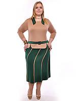Костюм женский кофта+юбка,размеры 48-62,модель ДК 351