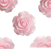 Кабошон 20мм Роза светло розовая, фото 1