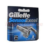 Сменные кассеты Gillette Sensor Excel 5 шт (Польша)