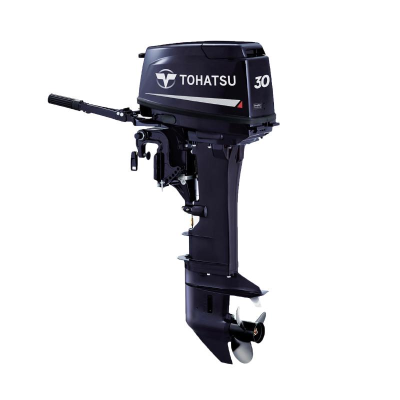Двигун для човна Tohatsu, 30 лс, 2 тактний, M30H S- підвісний двигун для яхт і рибальських човнів