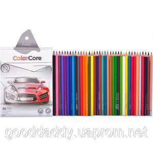 """Набор цветных карандашей 36 цв.+1 графит. MARCO """"ColorCore"""" 3100-36"""