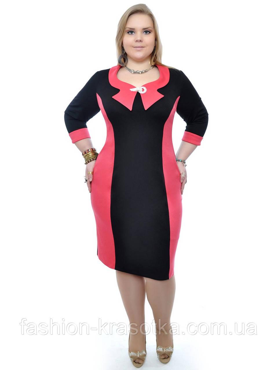 Платье модное Беата,размеры 48-62,модель ДК 358