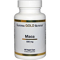 Мака, 500 мг, 90 капсул, California Gold Nutrition