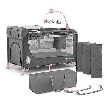 Кровать-манеж с пеленатором Kinderkraft Joy Pink (KKLJOYPNK000AC)