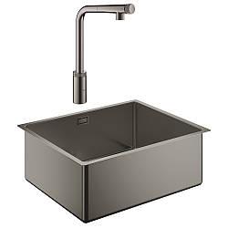 Набор Grohe мойка кухонная K700 31574AL0 + смеситель Minta Smartcontrol 31613A00