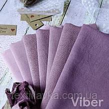 Набір тканини ручного фарбування сливово-бузкових відтінків 7шт.