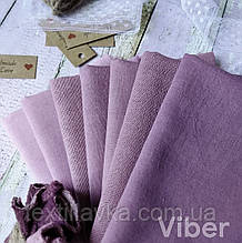 Набор ткани ручного окрашивания  сливово-сиреневых оттенков 7шт.