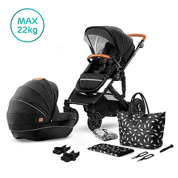 Універсальна коляска 2 в 1 Kinderkraft Prime Black + MommyBag (KKWPRIMBKMB200)