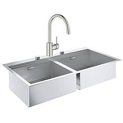 Набор Grohe мойка кухонная K800 31585SD0 + смеситель Concetto 32663DC3