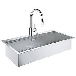 Набор Grohe мойка кухонная K800 31586SD0 + смеситель Eurosmart Cosmopolitan 31481001