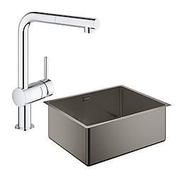 Набор Grohe мойка кухонная K700 31574AL0 + смеситель Minta 32168000