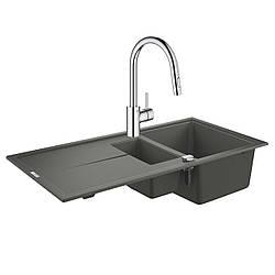 Набор Grohe мойка кухонная K400 31642AT0 + смеситель Eurosmart Cosmopolitan 31481001