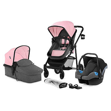 Універсальна коляска 3 в 1 Kinderkraft Juli Pink (KKWJULIPNK3000)