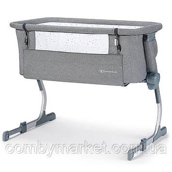 Приставная кроватка-люлька Kinderkraft Uno Up Gray (KKLUNOGRYM000N)