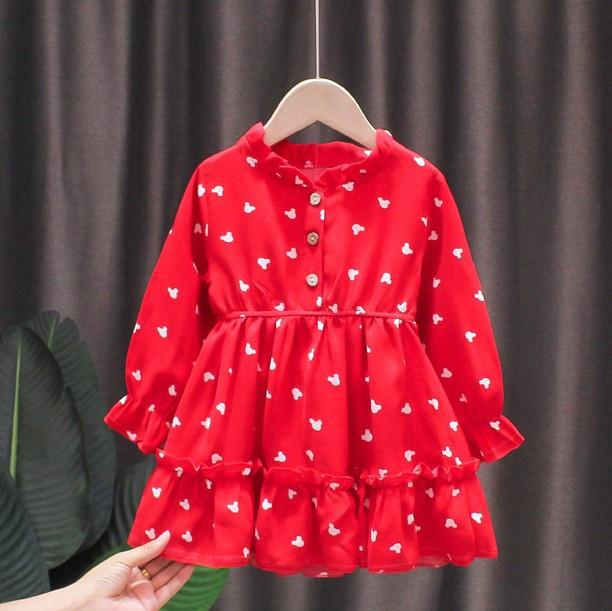 Платье для девочки красное 4845