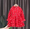 Платье для девочки красное 4845, фото 2